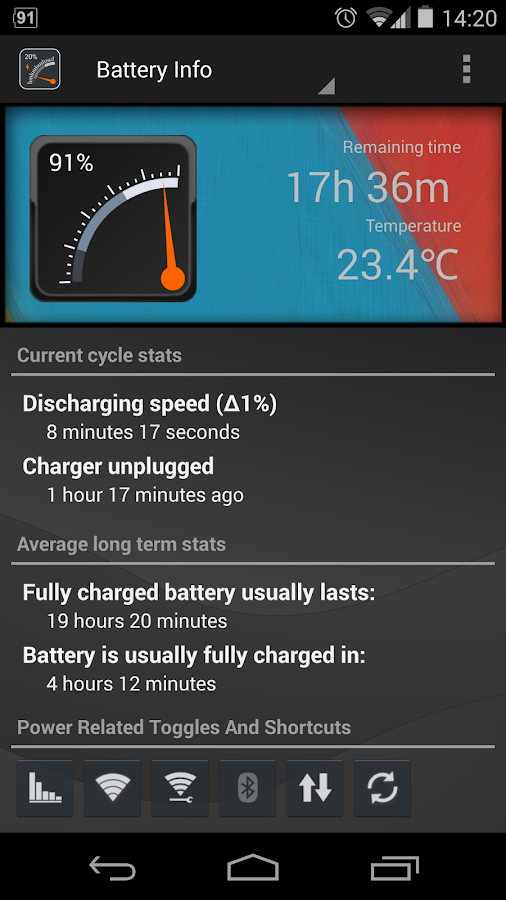 Gauge Battery Widget 2016- screenshot