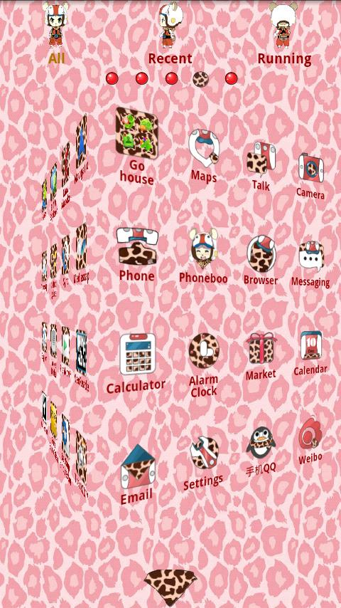 Pinkshuke Theme GO Launcher EX - screenshot