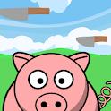 Pig vs knife icon
