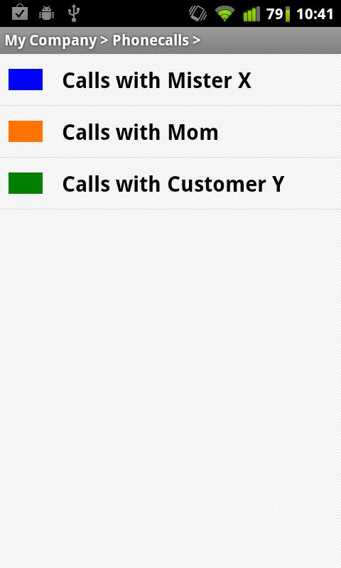 Yast Call Tracker - screenshot