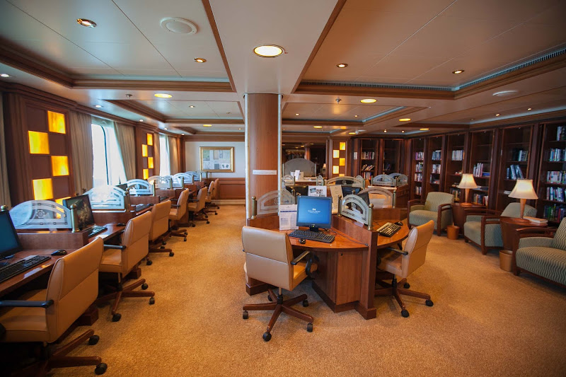 The Internet Café aboard Star Princess.