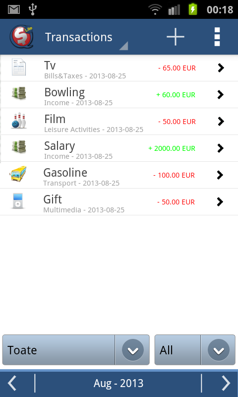 SQ Money Lite- screenshot