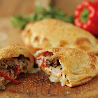 Sausage & Red Pepper Calzones.