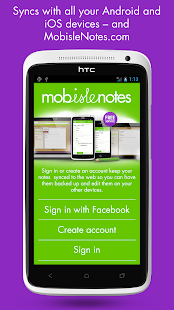 MobisleNotes - Notepad - screenshot thumbnail