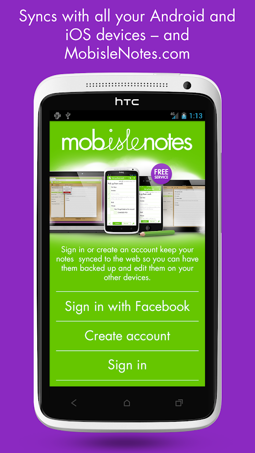MobisleNotes - Notepad - screenshot