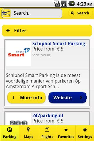 Schiphol Parking - screenshot