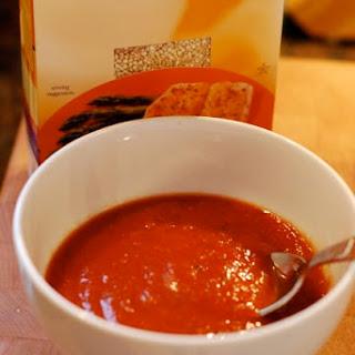 Simple Tomato Basil Quinoa Soup