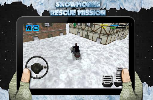 雪地车救援任务3D