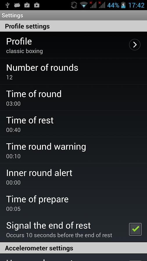 Boxing Interval Timer - screenshot