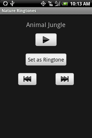 NATURE Ringtones - screenshot