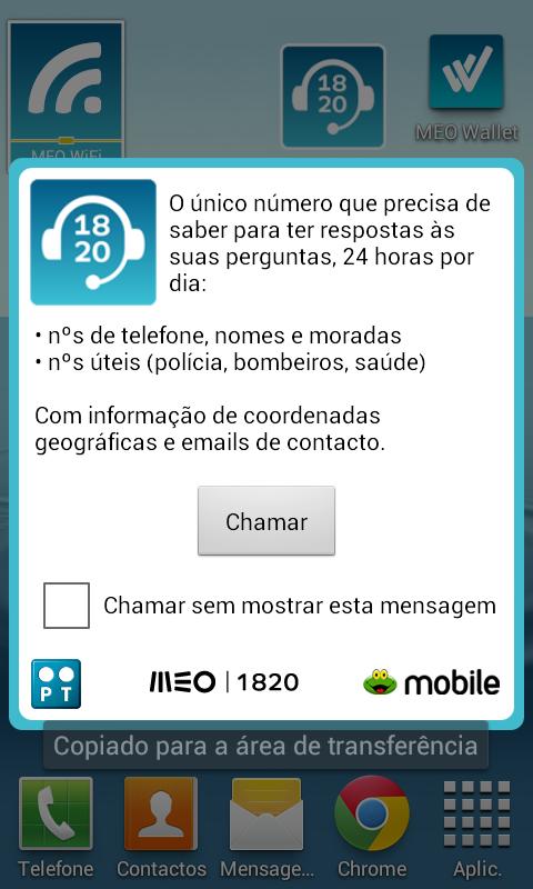 Widget 1820 - Informações - screenshot