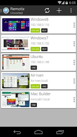android Remotix VNC RDP Remote Desktop Screenshot 10