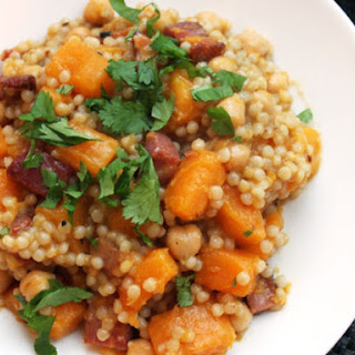 Couscous with Crispy Pancetta and Butternut Squash.
