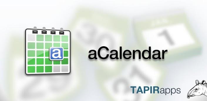 aCalendar - лучший календарь для андроид на русском