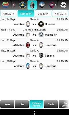 Serie A Live Score - screenshot