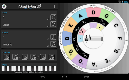 Chord Wheel : Circle of 5ths - screenshot thumbnail
