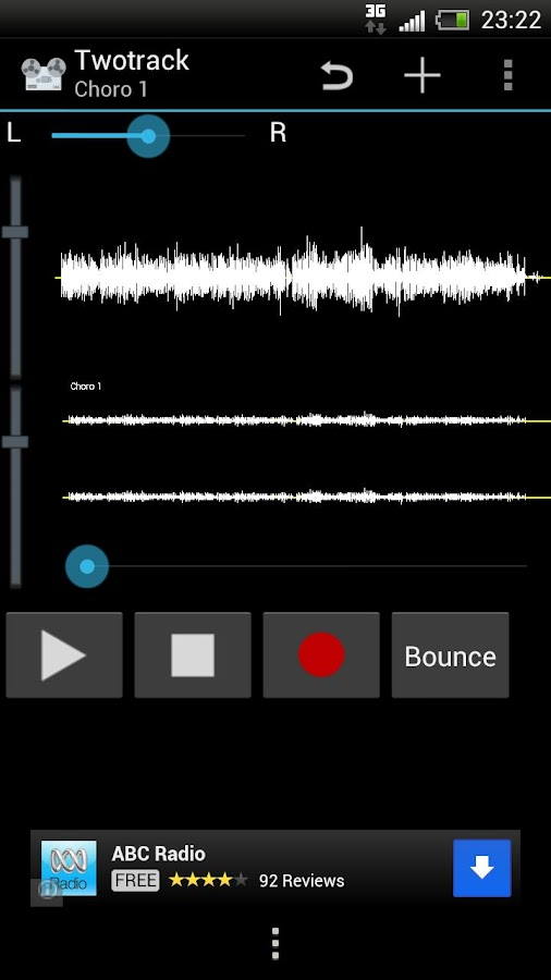Twotrack audio recorder free- screenshot