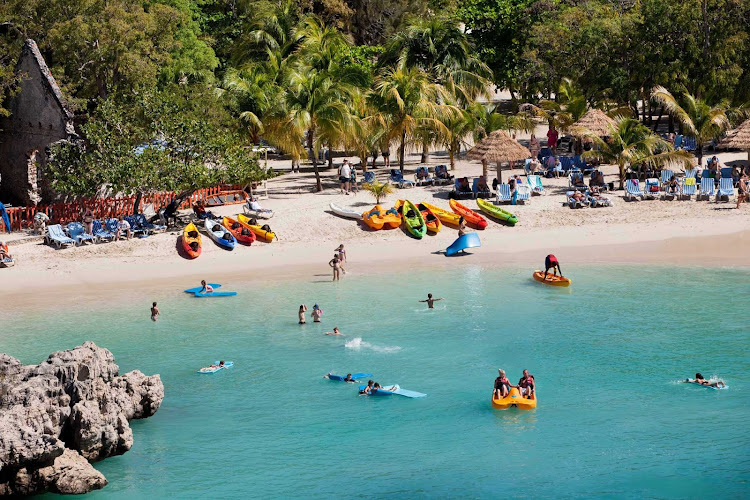 Water sports, swimming, snorkeling, kayaking and parasailing are all part of the action at Labadee, Royal Caribbean's 260-acre private beach resort on the north coast of Haiti.