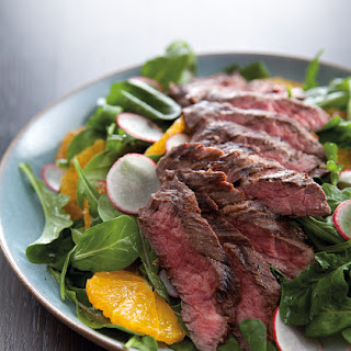 Steak & Arugula Salad with Oranges.