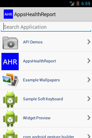 Application Health Report