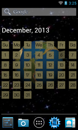 3D Calendar Live Wallpaper