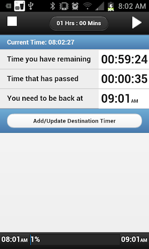 Lunch Time Timer-SmartWatch 2