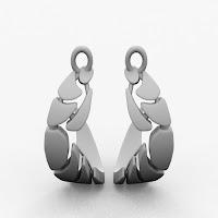 Bones Earrings Set (circles)