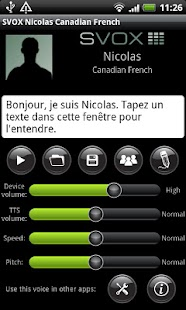 SVOX CA French Nicolas Voice - screenshot thumbnail