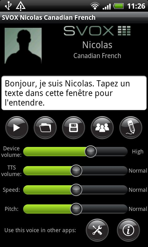SVOX CA French Nicolas Voice - screenshot