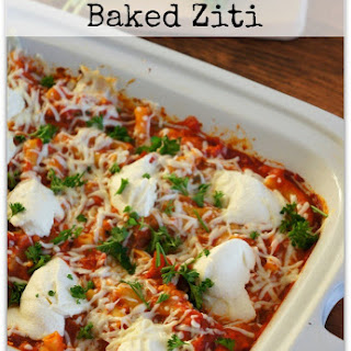 Recipe for Slow Cooker Baked Ziti with Pepperoni, Peppers and Mushrooms.