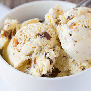 Malted Vanilla Ice Cream with Peanut Brittle & Milk Chocolate Chunks