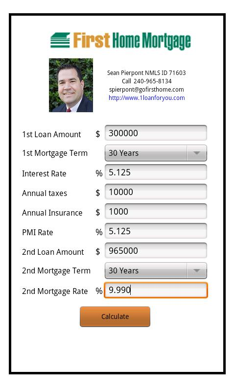Sean Pierpont's Mortgage Calc - screenshot