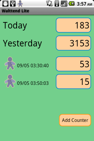 Walttend Lite - Pedometer- screenshot