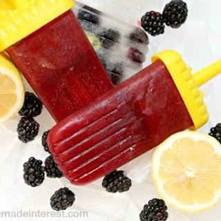 Blackberry Lemonade Popsicles