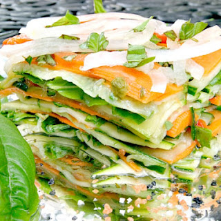 Stacked Summer Vegetable Salad Recipe