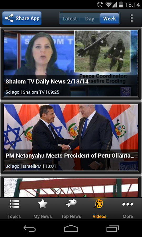Israel News - Newsfusion - screenshot