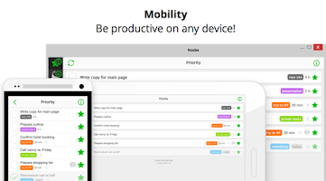 Screenshot of Nozbe: to-do, tasks & projects