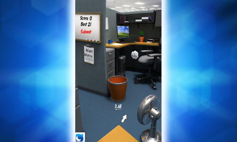 Paper Toss with Mobage - screenshot