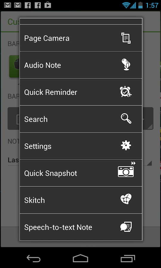Evernote Widget- screenshot
