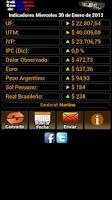 Screenshot of Indicadores Económicos Chile