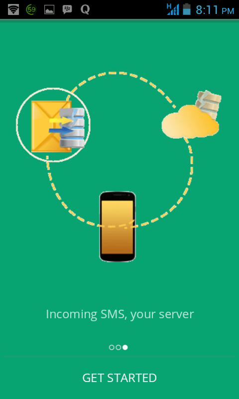 SMS2Server- screenshot