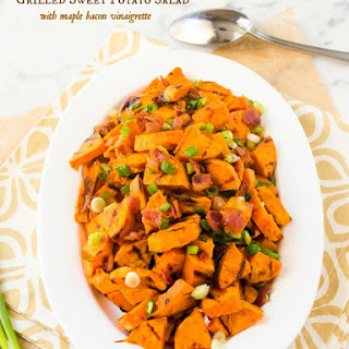 Grilled Sweet Potato Salad with Maple Bacon Vinaigrette