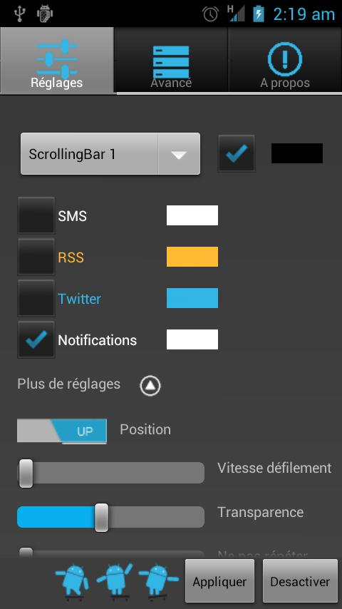 Scrolling Notifications Free - screenshot