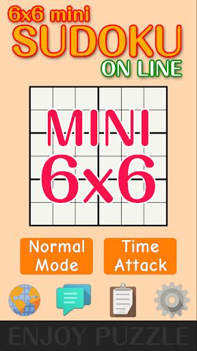 6x6 mini Sudoku Puzzle ON LINE