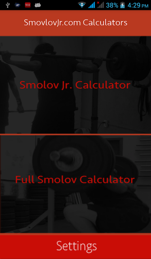 Smolov Squat Calculator- screenshot