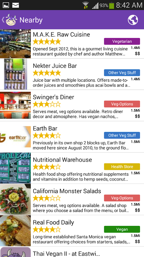 Happycow restaurant guide full android apps on google play for Restaurant guide