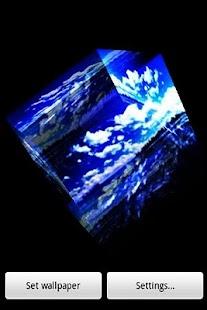三維的天空和湖泊