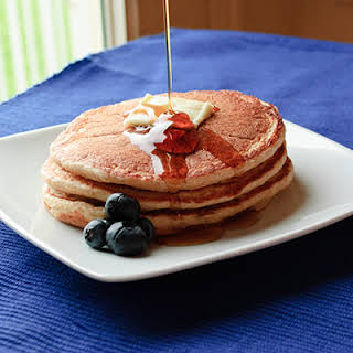 Healthy Blueberry Pancakes.