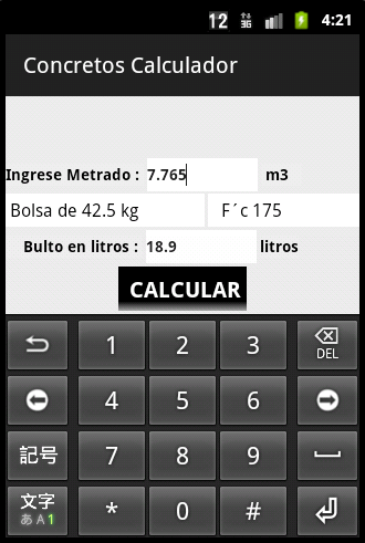 Concretos Calculador