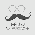 HELLO Mr. MUSTACHE Atom theme icon